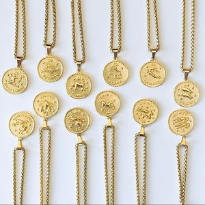 NEW 18k Gold Plated Zodiac Necklace